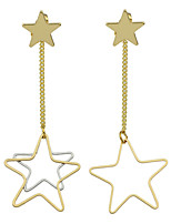 Earring Star Drop Earrings Jewelry Women Fashion Party / Daily / Casual Alloy 1 pair Gold KAYSHINE