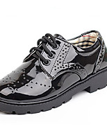 Boy's Oxfords Fall Round Toe / Flats Leather Casual Flat Heel Lace-up Black / Black and White Others
