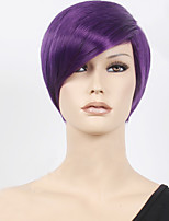 OHCOS Tokyo Ghoul Shuu Tsukiyama 11.81inches Short Purple Hair Synthetic Wig Cosplay Wigs