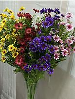 1 1 Филиал Полиэстер / Пластик Ромашки Букеты на стол Искусственные Цветы 33.4inch/85cm