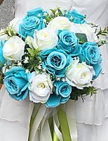 Wedding Flowers Round Roses Bouquets Wedding / Party/ Evening Satin 11.02(Approx.28cm)