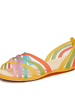Women's Sandals Summer Comfort Rubber Casual Flat Heel Others Blue Yellow Red Others