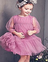 Girl's Casual/Daily Solid DressAcrylic All Seasons Pink