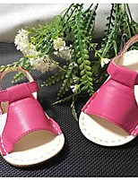 Girl's Sandals Summer Sandals Leather Outdoor Flat Heel Magic Tape Black / Pink / White / Fuchsia Others