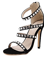 Women's Sandals Summer Sandals Polyester Casual Stiletto Heel Others Black Others