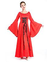 Costumes Plus de costumes Halloween Rouge Imprimé Térylène Robe / Plus d'accessoires