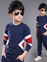 Boy's Casual/Daily Solid Clothing SetCotton Spring / Fall Blue / Red