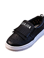 Boy's Loafers & Slip-Ons Summer Comfort / Round Toe PU Casual Flat Heel Others / Tassel Black / White