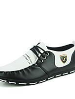 Men's Oxfords PU Office & Career / Party & Evening Flat Heel Lace-up Black / Black and White Walking EU39-43
