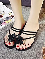 Women's Sandals Spring Summer Comfort PU Casual Flat Heel Flower Black Green Red Silver Others