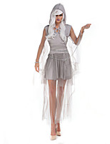 Cosplay Costumes / Party Costume Angel/Devil Festival/Holiday Halloween Costumes Gray Solid Dress / Necklace / Hats Halloween Female