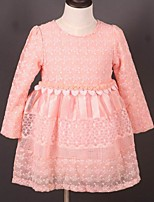 Girl's Casual/Daily Floral DressAcrylic All Seasons Pink