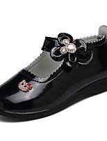 Черный Красный-Для девочек-Повседневный-Кожа-На плоской подошве-Удобная обувь-Мокасины и Свитер