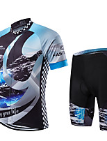 Sports Cycling Jersey with Shorts Men's / Unisex Short Sleeve Bike Breathable / Quick Dry / Front Zipper / Wearable / CompressionClothing