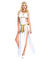 Costumes de Cosplay / Costume de Soirée Déguisements Thème Film/TV Fête / Célébration Déguisement Halloween Blanc Couleur PleineRobe /