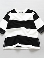 Girl's Casual/Daily Striped BlouseCotton Spring / Fall Black / White