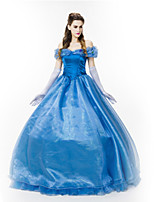 Costumes Déguisements de princesse Halloween Bleu Ciel Couleur Pleine Térylène Robe / Plus d'accessoires