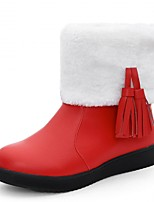 Feminino-Botas-Plataforma Conforto Inovador Botas de Cowboy Botas de Neve Botas Montaria Botas da Moda-Rasteiro Plataforma-Preto Rosa
