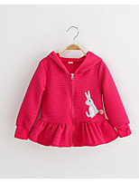 Girl's Casual/Daily Solid Suit & BlazerCotton / Rayon Spring / Fall Pink / Red