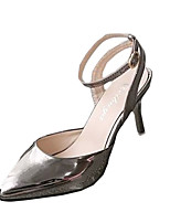 Women's Heels Fall Heels Patent Leather Casual Stiletto Heel Buckle Silver Others