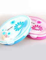 3 compartiments boîte en plastique tiffin avec saladier