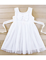 Girl's Going out Floral DressAcrylic All Seasons White