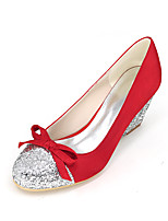 Women's Heels Spring / Summer / Fall Wedges / Round Toe Silk Wedding / Party & Evening