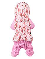 Manteaux / Pulls à capuche / Combinaison-pantalon / Veste-Chat / Chien-Hiver-Incanardin / Rouge Rose-Mode / Décontracté / Quotidien /