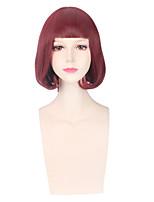 les femmes de couleur rouge cosplay perruques synthétiques perruques de mode sans colle