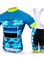 Спорт Велокофты и велошорты-комбинезоны Муж. Короткие рукава Велоспорт Дышащий / Быстровысыхающий / Удобный Наборы одежды/Костюмы Coolmax