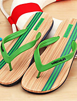 Синий / Зеленый / Красный-Мужской-На каждый день-ПВХ / Бамбук-На плоской подошве-Шлепанцы / С открытым носком-Тапочки и Шлепанцы