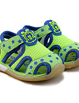 Boy's Sandals Summer Sandals Tulle Outdoor Flat Heel Magic Tape Blue / Green Others