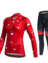 Miloto® Maillot de Ciclismo con Mallas Mujer / Unisex Mangas largas BicicletaTranspirable / Secado rápido / Permeabilidad a la humeda /