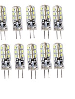 YouOKlight 10PCS G4 1.5W  SMD 24*3014  Warm White / Cool White  LED Decorative  Lights   DC12