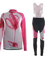 Sports Cycling Jersey with Bib Tights Women's Long Sleeve BikeBreathable / Thermal / Warm / Wearable / 3D Pad / Ultra Light Fabric /