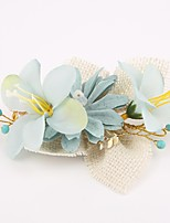 Women's Resin / Fabric Headpiece-Wedding / Special Occasion Hair Combs / Flowers 1 Piece Clear / Blue / White