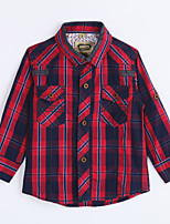 Boy's Casual/Daily Houndstooth ShirtCotton Fall Red