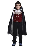 Cosplay Costumes Vampire Movie Cosplay Red Solid Top / Pants / Cloak Halloween / Christmas / New Year Kid Polyester