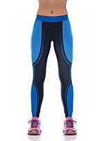 Штаны для йоги Нижняя часть Дышащий / Сжатие видеоизображений Естественный Стреч Спортивная одежда Синий Жен. Спорт® Йога / Пилатес