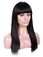 20-24inch яки прямо с полным восклицательного бразильские виргинские человеческие волосы Remy бесклеевой париков фронта шнурка для