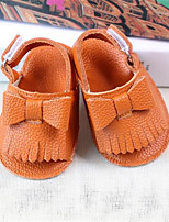 Girl's Sandals Spring / Summer / Fall Sandals PU Outdoor / Casual Flat Heel Bowknot Yellow Walking
