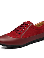 Men's Flats Spring / Fall Comfort Microfibre /  Outdoor / Casual Flat Heel Lace-up Black / Blue / Burgundy Walking