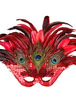 Dance Party Mask Masquerade Princess Big Peacock Feather Mask Women Half Face Mask