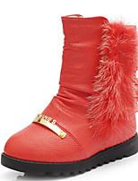 Para Meninas-Botas-Botas de Neve Botas da Moda-Rasteiro-Marrom Vermelho-Courino-Ar-Livre Casual