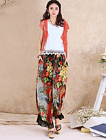 Our Story Women's Floral Green Loose PantsSophisticated Spring / Fall