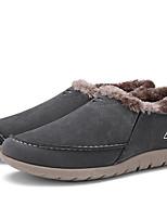 Herren-Loafers & Slip-Ons-Lässig-Kunstleder-Flacher Absatz-Komfort / Schneestiefel / Flache Schuhe-Blau / Braun / Grau / Kamel