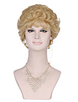 New Curly Short Women Wigs Synthetic Hair Wig Blonde With Full Lace
