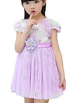 Girl's Casual/Daily Solid DressOthers Summer / Spring / Fall Pink / Purple / White
