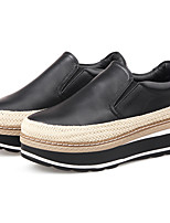 Women's Loafers & Slip-Ons Summer Comfort Leather Casual Flat Heel Others Black Silver Walking