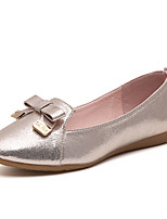 Women's Flats Spring / Summer / Fall Comfort Leatherette Outdoor / Casual Flat Heel Bowknot / Pearl